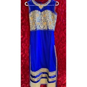 Blue and Gold Indian Suit